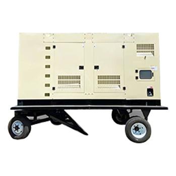 500kw静音拖车发电机组