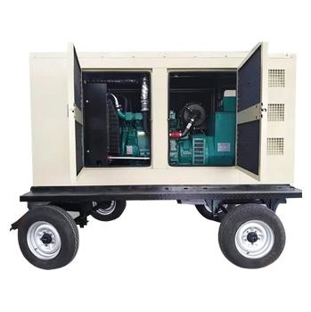 30kw静音拖车发电机组